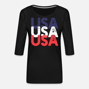 Usa USA USA USA - Women's Premium 3/4-Sleeve T-Shirt