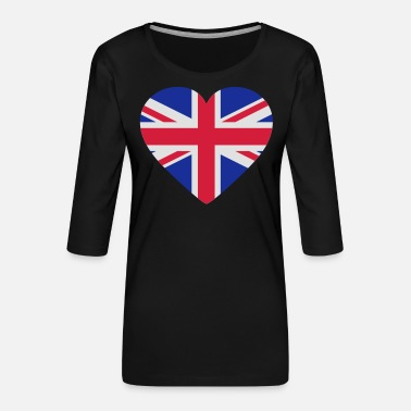 Shape Underwear Heart Britain - Women's Premium 3/4-Sleeve T-Shirt