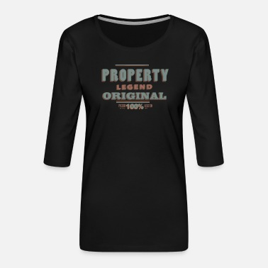 Property Property - Women's Premium 3/4-Sleeve T-Shirt