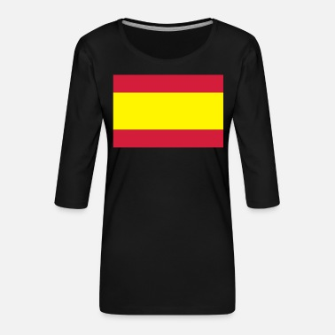 Spanish Spanish Flag - Women's Premium 3/4-Sleeve T-Shirt