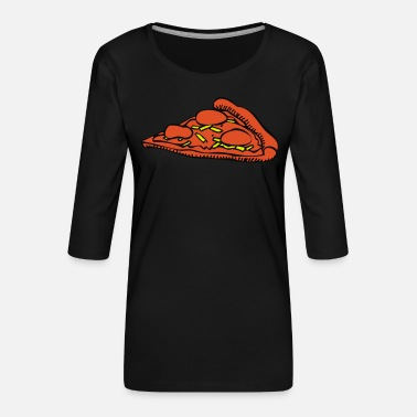 eat, Pizza, more burger, nearly, food, food, - Women's Premium 3/4-Sleeve T-Shirt
