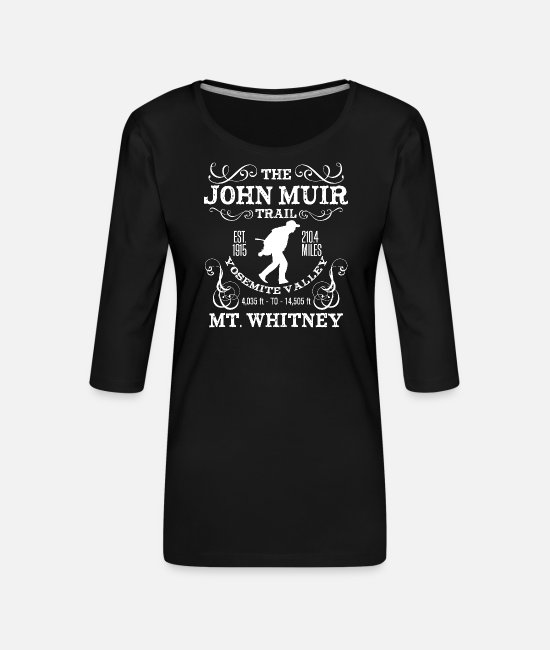 Jmt Long-Sleeved Shirts - JMT, The John Muir Trail - Women's Premium 3/4-Sleeve T-Shirt black
