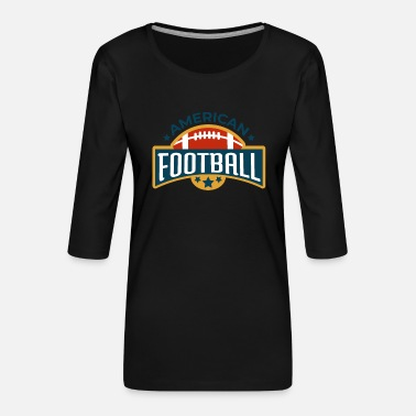 Football Vintage#2 - Frauen Premium 3/4-Arm Shirt