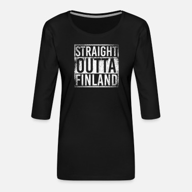 Flyg Finlands nation - Premium-T-shirt med 3/4-ärm dam