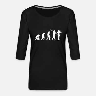 Musical Instruments Viola evolution instruments concert - Women's Premium 3/4-Sleeve T-Shirt