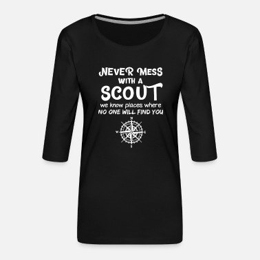 Scouts Grappig Boy Scout Grappig gezegde - Vrouwen premium shirt 3/4-mouw