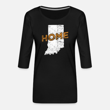 Distressed Indiana Home Distressed - Frauen Premium 3/4-Arm Shirt