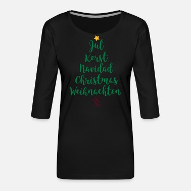 Tree Christmas tree - Women's Premium 3/4-Sleeve T-Shirt