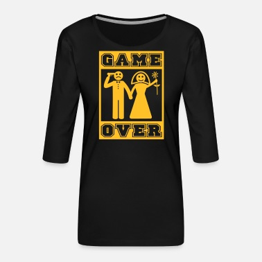 Game Over Game Over Marriage Off and Over Spell - Women's Premium 3/4-Sleeve T-Shirt