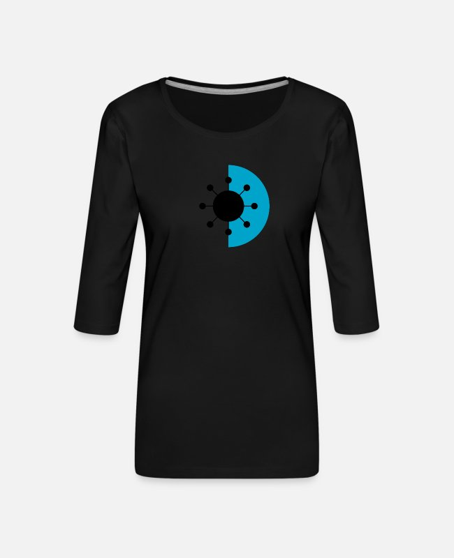 Chernobyl Long-Sleeved Shirts - Ark reactor # 2 - Women's Premium 3/4-Sleeve T-Shirt black