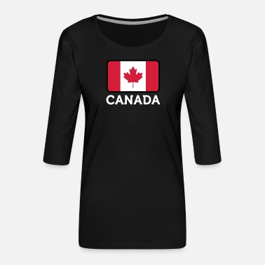 Canada National Flag Of Canada - Dame Premium shirt med 3/4-ærmer