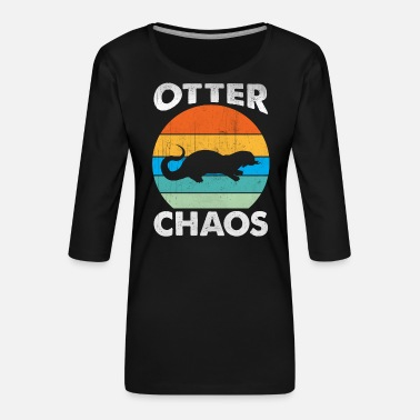 Otter Zoo Animal Lover - Women's Premium 3/4-Sleeve T-Shirt