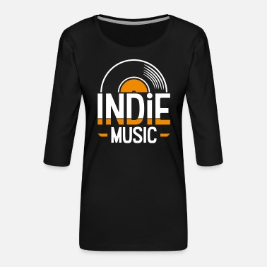Indie Indie music - Women's Premium 3/4-Sleeve T-Shirt