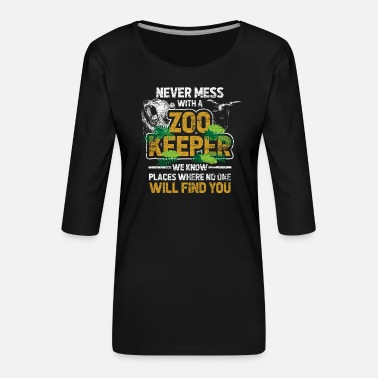 Zoo Animal Zoo animal Zoo Zoo animal keeper - Women's Premium 3/4-Sleeve T-Shirt