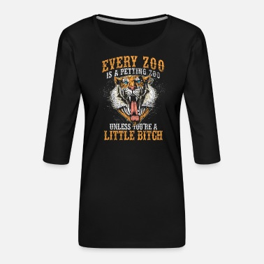 Zoo Animal Zoo Zoo Animal Zoology Zoo Animal Keeper - Women's Premium 3/4-Sleeve T-Shirt