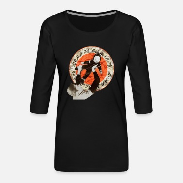 Vintagecontest vintagecontest - retro vintage - mom with her baby - Women's Premium 3/4-Sleeve T-Shirt