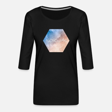 Norway Norway - Norway - Women's Premium 3/4-Sleeve T-Shirt