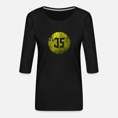 Grungy Grungy JavaScript - Women's Premium 3/4-Sleeve T-Shirt