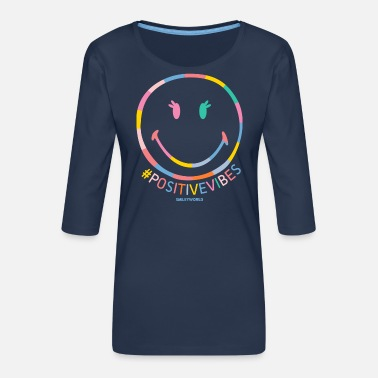 Motivation SmileyWorld Positive Vibes - Frauen Premium 3/4-Arm Shirt