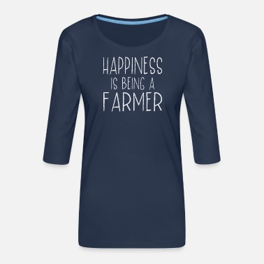 The Best Happiness Is Farmer Last Name Surname Pride - Women's Premium 3/4-Sleeve T-Shirt