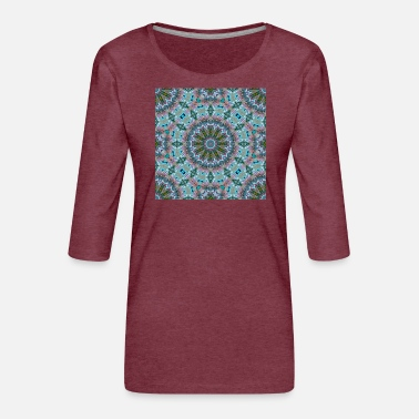MANDALA ABSTRACT LILY ELODIE 2 - Women's Premium 3/4-Sleeve T-Shirt