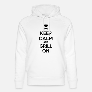 keep calm and grill on - Uniseks bio hoodie
