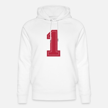 Emblem number one patch - Unisex Bio Hoodie