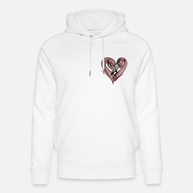 Flamingo Love - Sweat à capuche bio unisexe