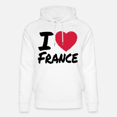 I Love France - Sweat à capuche bio unisexe