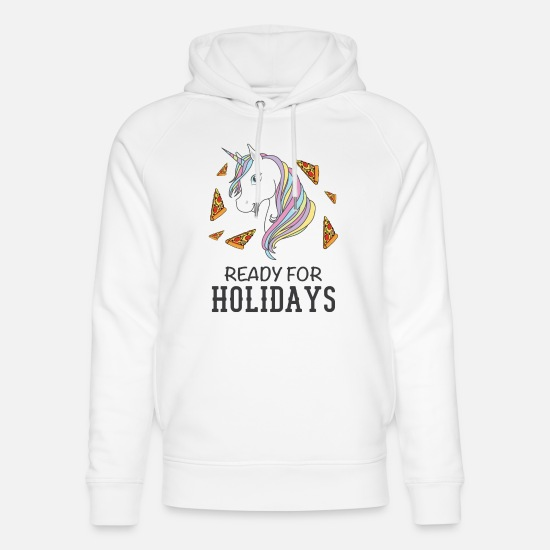 Holiday Hoodies & Sweatshirts - Ready for holidays - Unisex Organic Hoodie white