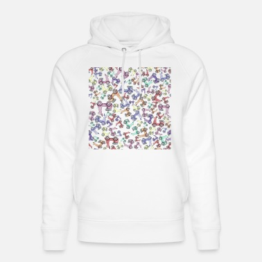 Cc Engine moped scooter watercolour colourful travel wheels - Unisex Organic Hoodie