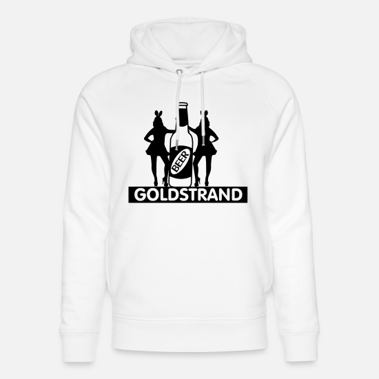 Majorca Hoodies & Sweatshirts - Malle,mallorca,party,gold beach,2014,holiday,drink - Unisex Organic Hoodie white