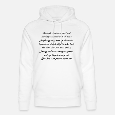 Jennifer Connelly Labyrinth - Unisex Organic Hoodie