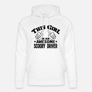 Scooby this girl is an awesome scooby driver - Unisex Organic Hoodie