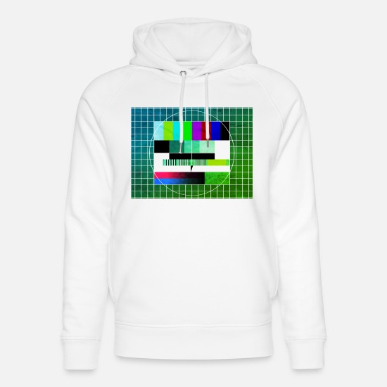 Actress Hoodies & Sweatshirts - TV TEST PATTERN - TELEVISION - TELEVISION - Unisex Organic Hoodie white