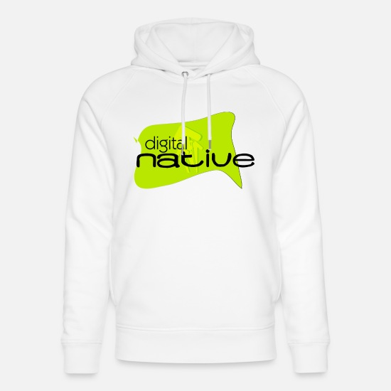 Digital Pullover & Hoodies - digital native - Unisex Bio Hoodie Weiß