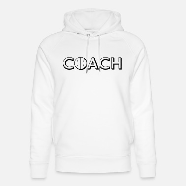 Basketball Coach Basketball Coach Logo Design - Sweat à capuche bio unisexe