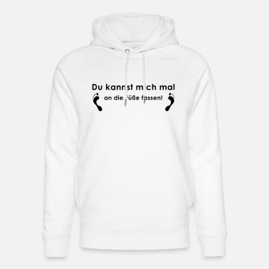 Feet touch breast grab tits lick me naughty - Unisex Organic Hoodie