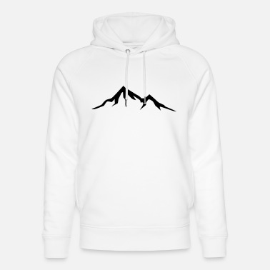 Alps Ski Mountains, Alps, Switzerland, Alpen, Ski, Hiking - Unisex hoodie af økologisk bomuld