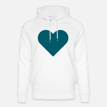 Farewell Party HEART petrol - Unisex Organic Hoodie