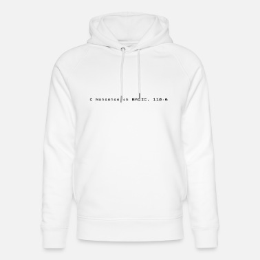 Zx Spectrum C Nonsense in BASIC - Sinclair ZX Spectrum Error - Unisex Organic Hoodie