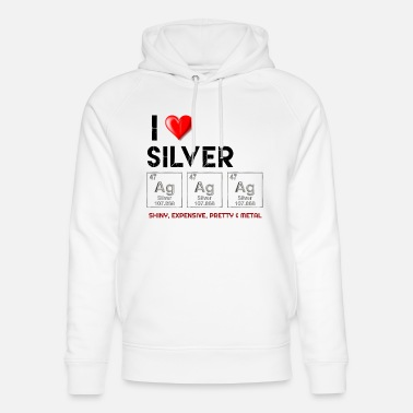Silber Silber (Ag), Silber im Periodensystem, Silber - Unisex Bio Hoodie