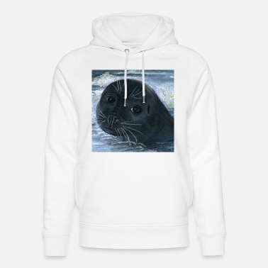 Seal-animal seal sea animal - Unisex Organic Hoodie