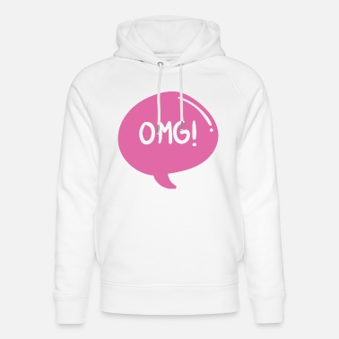 Saying exclamation word cool design gift greeting OMG - Unisex Organic Hoodie