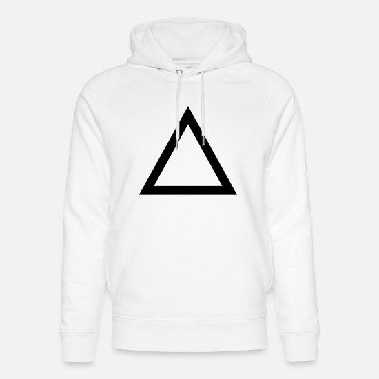 Top Sweat-shirts - Triangle - Sweat à capuche bio unisexe blanc