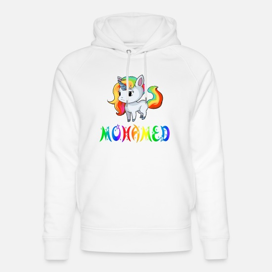Mohamed Hoodies & Sweatshirts - Unicorn Mohamed - Unisex Organic Hoodie white