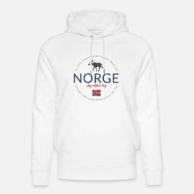 Norway Norway button (Norway - I love you) - Unisex Organic Hoodie