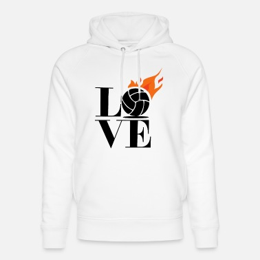 I Love Volleyball Love volleyball I love volleyball - Unisex Organic Hoodie
