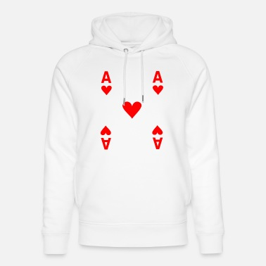 Ace of hearts poker costume Mardi Gras carnival - Unisex Organic Hoodie
