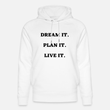 Motivation Motivational Quote Attitude Slogan - Unisex Bio Hoodie